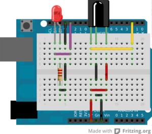 Arduino con Infrarrojos y led