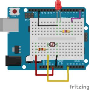 Interruptor crepuscular con Arduino